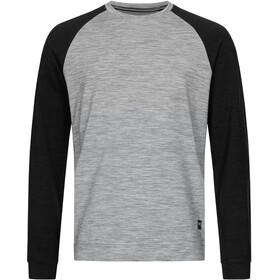 super.natural Signature Contrast Crew Shirt Men ash melange/jet black/jet black back
